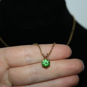 Vintage gold and peridot necklace